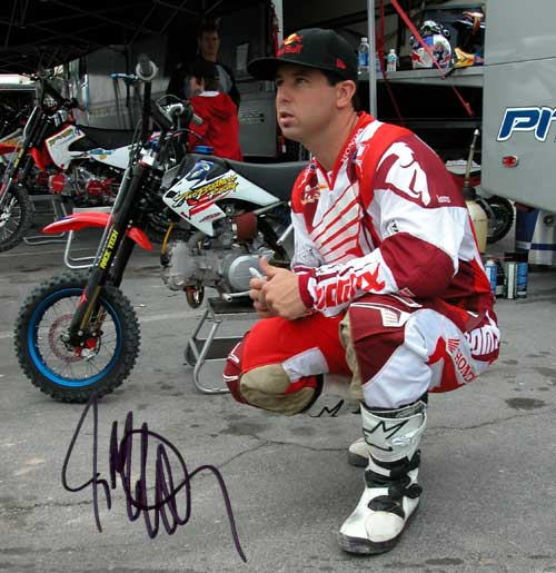 jeremy mcgrath signing in pit bike pits