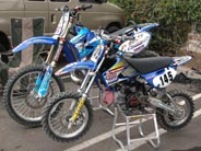 Trevor Vines' cool FMX bike and pit bike